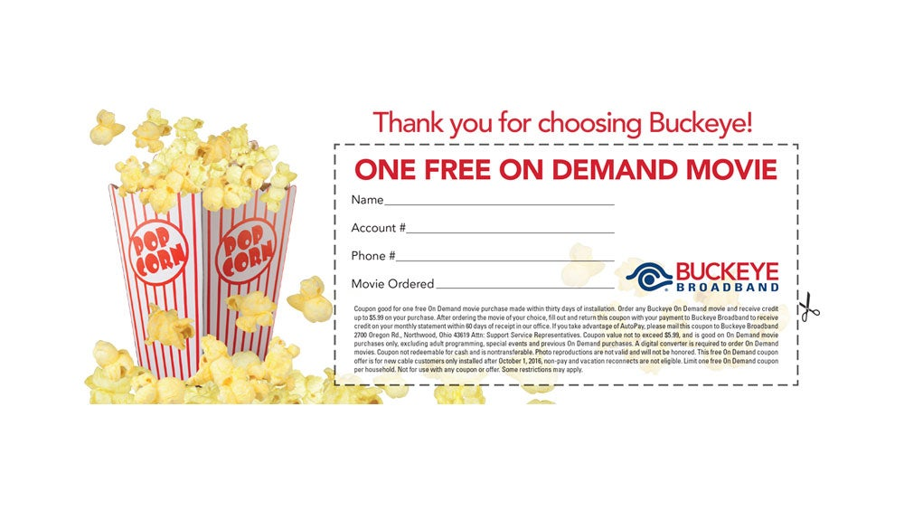 Free On Demand Movie Ticket Image