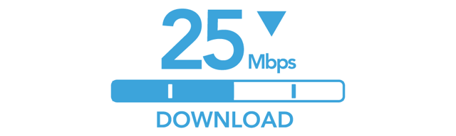 25 Mbps Download Internet Speed