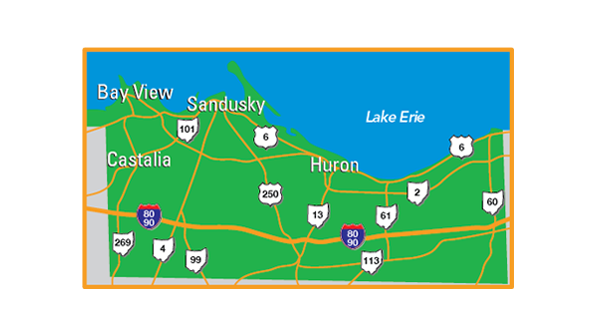 Erie Map Image